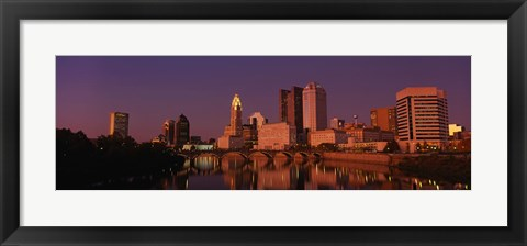 Framed Buildings at the waterfront, Columbus, Ohio, USA Print