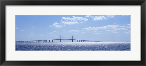 Framed Sunshine Skyway Bridge, Tampa Bay, Florida Print