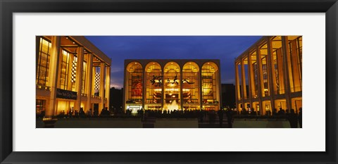 Framed Entertainment building lit up at night, Lincoln Center, Manhattan, New York City, New York State, USA Print