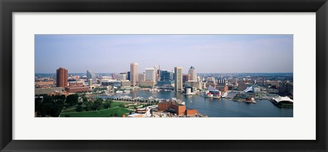 Framed Skyscrapers in a city, Baltimore, Maryland Print