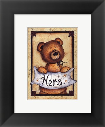 Framed Bear Bottoms - Hers Print