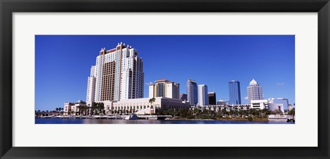 Framed Skyscrapers at the waterfront, Tampa, Hillsborough County, Florida, USA Print