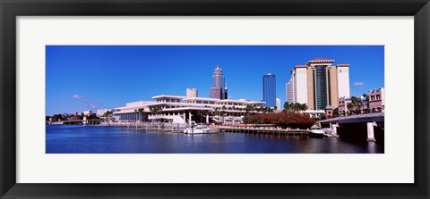 Framed Skyscrapers at the waterfront, Tampa, Florida, USA Print