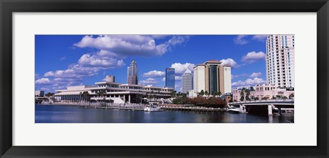 Framed Buildings at the coast, Tampa, Hillsborough County, Florida, USA Print