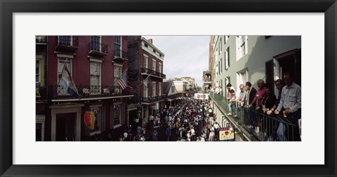 Framed Group of people participating in a parade, Mardi Gras, New Orleans, Louisiana, USA Print