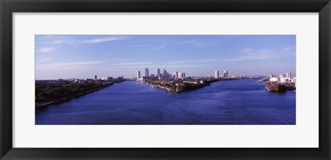 Framed Buildings in a city, Tampa, Hillsborough County, Florida, USA Print