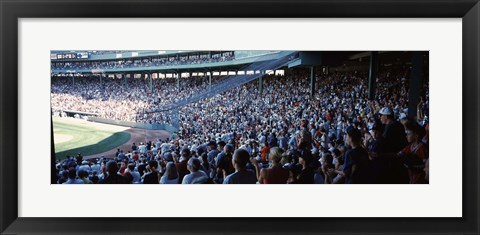 Framed Spectators watching a baseball match in a stadium, Fenway Park, Boston, Suffolk County, Massachusetts, USA Print