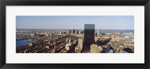 Framed Aerial View of Boston, Massachusetts Print
