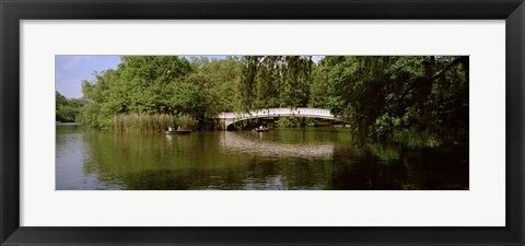 Framed Bridge across a lake, Central Park, Manhattan, New York City, New York State, USA Print