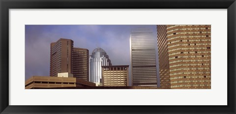 Framed Skyscrapers in a city, Boston, Suffolk County, Massachusetts, USA Print