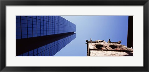 Framed Low angle view of the Hancock Building and Trinity Church, Boston, Suffolk County, Massachusetts, USA Print