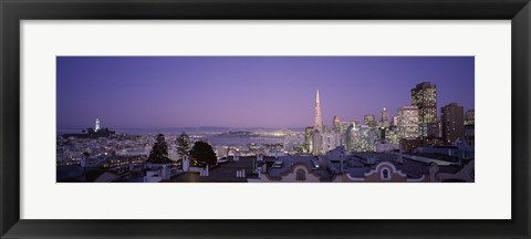 Framed View of San Francisco from Nob Hill, California Print
