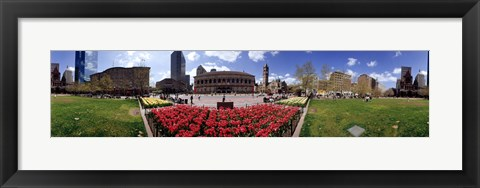 Framed 360 degree view of a city, Boston, Suffolk County, Massachusetts, USA Print