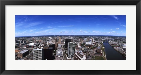 Framed Aerial view of a cityscape, Newark, Essex County, New Jersey Print