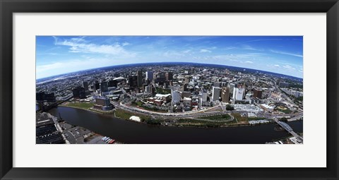 Framed Bird's Eye view of Newark, New Jersey Print
