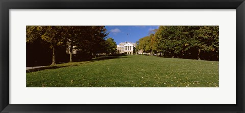 Framed Lawn in front of a building, Bascom Hall, Bascom Hill, University of Wisconsin, Madison, Dane County, Wisconsin, USA Print