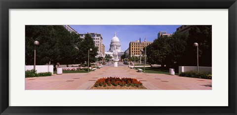 Framed Footpath leading toward a government building, Wisconsin State Capitol, Madison, Wisconsin, USA Print
