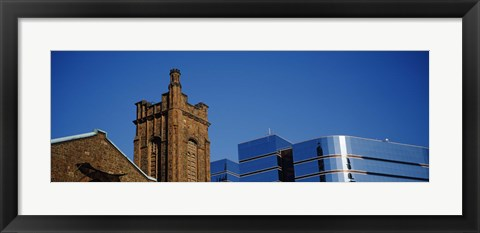 Framed High section view of buildings in a city, Presbyterian Church, Midtown plaza, Atlanta, Fulton County, Georgia, USA Print