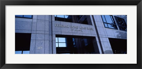 Framed Facade of a bank building, Federal Home Loan Bank, Atlanta, Fulton County, Georgia, USA Print