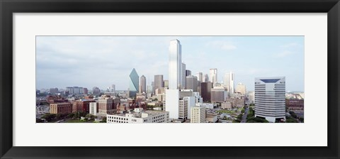 Framed Dallas Skyline Print
