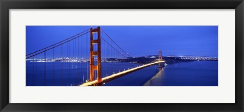 Framed Golden Gate Bridge at Dusk, San Francisco, California Print