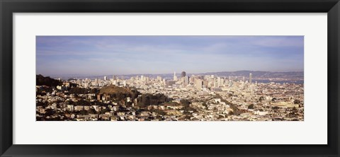 Framed Panoramic view of San Francisco, California Print