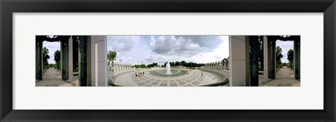 Framed 360 degree view of a war memorial, National World War II Memorial, Washington DC, USA Print