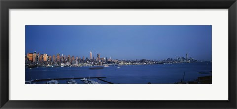 Framed View of New York City from Hamilton Park, New York State Print