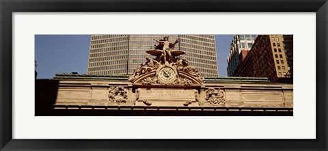 Framed High section view of a railroad station, Grand Central Station, Manhattan, New York City, New York State, USA Print
