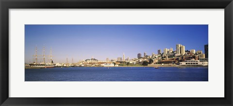 Framed Sea with a city in the background, San Francisco, California Print