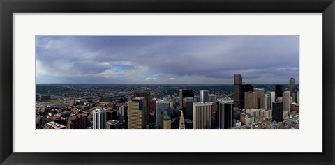 Framed Buildings in a city, Denver, Denver county, Colorado Print