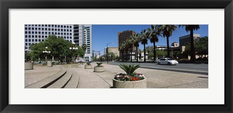 Framed Office buildings in a city, Downtown San Jose, San Jose, Santa Clara County, California, USA Print