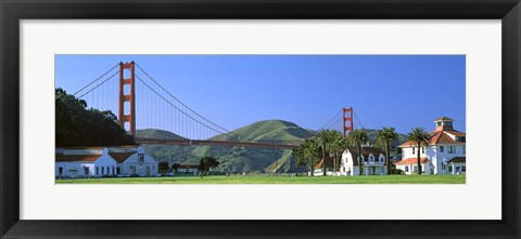 Framed Bridge viewed from a park, Golden Gate Bridge, Crissy Field, San Francisco, California, USA Print