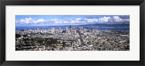 Framed San Francisco as Viewed from Twin Peaks Print