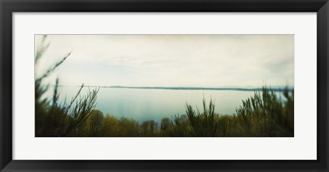 Framed Park along an inlet, Puget Sound, Discovery Park, Magnolia, Seattle, Washington State, USA Print
