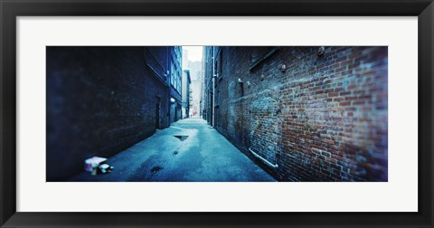 Framed Buildings along an alley, Pioneer Square, Seattle, Washington State, USA Print