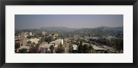 Framed Buildings in a city, Hollywood, City of Los Angeles, California, USA Print