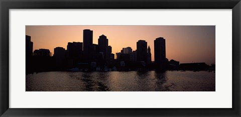 Framed Boston skyline, Massachusetts Print