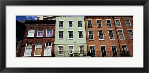 Framed Low angle view of buildings, Riverwalk Area, New Orleans, Louisiana, USA Print