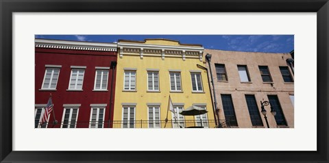 Framed Low angle view of buildings, French Market, French Quarter, New Orleans, Louisiana, USA Print