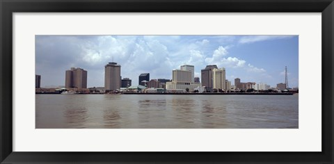 Framed Buildings viewed from the deck of Algiers ferry, New Orleans, Louisiana Print