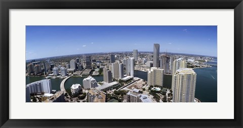 Framed Aerial View of Miami, Florida, 2008 Print