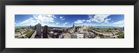 Framed 360 degree view of a city, Chicago, Cook County, Illinois, USA Print