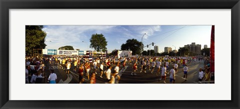 Framed People participating in a marathon, Chicago, Cook County, Illinois Print