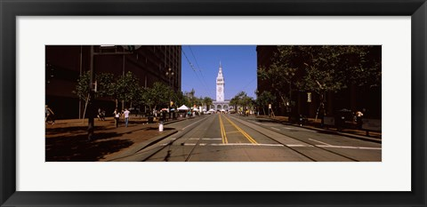 Framed Tourists at a market place, Ferry Building, San Francisco, California, USA Print