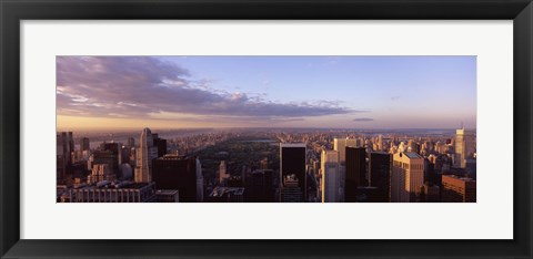 Framed Cityscape at sunset, Central Park, East Side of Manhattan, New York City, New York State, USA 2009 Print