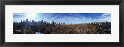 Framed 360 degree view of a city, Central Park, Manhattan, New York City, New York State, USA 2009 Print