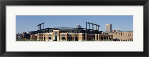 Framed Baseball park in a city, Oriole Park at Camden Yards, Baltimore, Maryland, USA Print