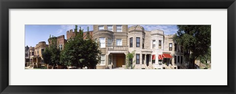 Framed 180 degree view of buildings in a city, Chicago, Cook County, Illinois, USA Print