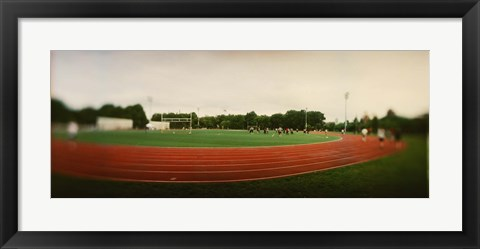 Framed Running track in a park, McCarran Park, Greenpoint, Brooklyn, New York City, New York State, USA Print
